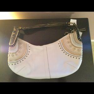 NWT Coach Large Hobo Ivory Leather Embellished Bag